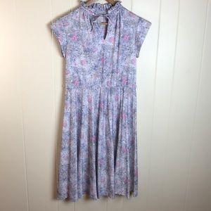 Dresses & Skirts - Vintage 70s Pale Purple/Pink Floral Dress